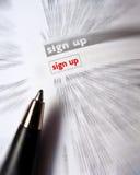 podpisuje podpisywać obraz stock