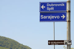 Podpisuje Sarajevo, Dubrovnik, Bośnia & Herzegovina - obrazy royalty free