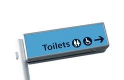 podpisuje toaletę obraz royalty free