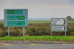 Podpisuje wewnątrz Irlandia, Północny Europa Obraz Royalty Free