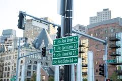 Podpisuje wewnątrz Boston Zdjęcie Royalty Free
