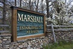 Podpisuje wewnątrz Marshall, Virginia Zdjęcie Royalty Free