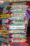 Podpisuje wewnątrz w Punta Del Este Obrazy Stock
