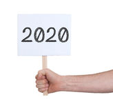 Podpisuje z liczbą - rok 2020 Fotografia Stock