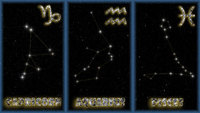 podpisuje zima zodiaka Zdjęcia Stock