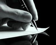 Podpisywać dokument Obrazy Stock
