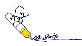 podpisywanie biznesmena podpisywanie Zdjęcia Stock