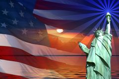 podpisz symbole ameryki ilustracji