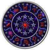podpisz zodiaka dysk royalty ilustracja