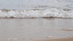Podróż i morza pojęcie Zimne fale piaskowaty brzeg i morze bałtyckie Jesieni inGdansk zdjęcie wideo