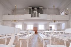 Podróżować w Europa Organ w centrum katedralny Wittenberg Niemcy 08 09 2017 zdjęcia stock