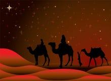 podróż świąteczną royalty ilustracja
