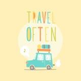 Podróż często Wycieczka samochodowa Obrazy Royalty Free