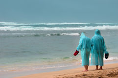 Podróż i Deszcz w raju fotografia stock