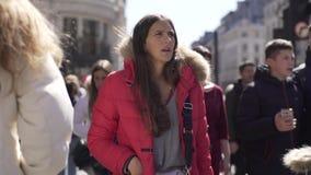 Podróż materiał filmowy London England ulicy zaludnia miasta życie zbiory wideo