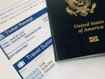 Podróż paszport i marszruta zdjęcia stock