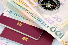 Podróż pieniądze SEK Zdjęcia Stock