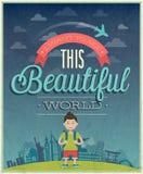 Podróż plakat Obraz Royalty Free