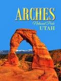 Podróż plakat, Utah - łuki parki narodowi, Ameryka Royalty Ilustracja