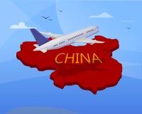 Podróż powietrzna Chiny Samolot ilustracja wektor