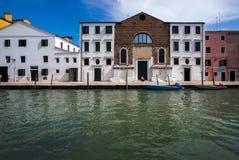 Podróż przez kanał grande Ulicy Wenecja Włochy obrazy royalty free