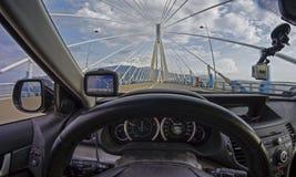 Podróż przez Rio†'Antirrio mosta zdjęcie royalty free