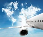 Podróż samolot Zdjęcia Stock