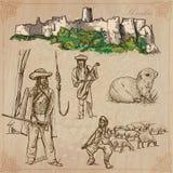 Podróż: Sistani Ręka rysująca wektor paczka ilustracja wektor