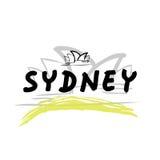 Podróż Sydney ilustracji