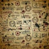 Podróż textured z znaczkiem Fotografia Stock