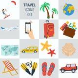 Podróż wakacje kwadrata 15 ikony Fotografia Stock