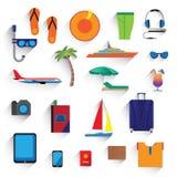 Podróż, wakacje, turystyka ikony Zdjęcie Royalty Free