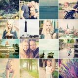 Podróż wokoło Estonia journeyer Fotografia set obraz royalty free