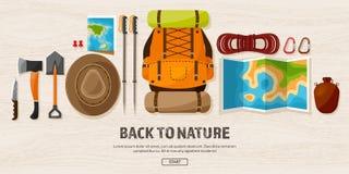 Podróż, Wycieczkuje tło Halny pięcie Międzynarodowa turystyka, wycieczka natura podróż, Dookoła Świata Lato royalty ilustracja