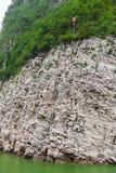 Podróż wzdłuż Yangtze z widok górski obraz stock