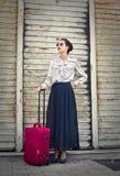 Podróżna dziewczyna zdjęcie stock