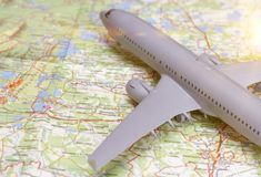 Podróżna zagranica, loty międzynarodowi, lot, linie lotnicze zdjęcia stock