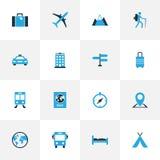 Podróżne Kolorowe ikony Ustawiać Zdjęcie Stock