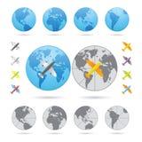 Podróżne serie Samolotowe royalty ilustracja