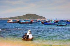 Podróżnicze wyzwanie kosza łodzie Fotografia Royalty Free