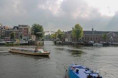Podróżny budynek, dziejowy, Amsterdam obraz royalty free