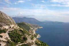 Podróżny samotny Dalmatyński wybrzeże, Chorwacja Obraz Stock