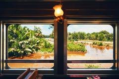 Podróżować kontrpara pociągiem Obrazy Stock