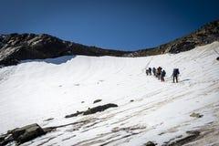 Podróżować w Kaukaskich górach w Gruzja Fotografia Stock