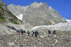 Podróżować w Kaukaskich górach w Gruzja Obrazy Stock