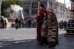 Podróżować w Tibetï ¼ šThe pielgrzymie Fotografia Stock