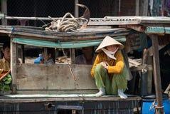 Podróżujący w Mekong delcie, Wietnam obrazy stock