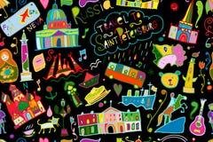 Podróżuje święty Petersburg, bezszwowy wzór dla twój projekta ilustracji