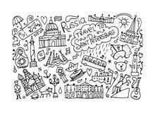 Podróżuje święty Petersburg, nakreślenie dla twój projekta ilustracja wektor