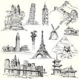 Podróżuje świat ilustracja wektor